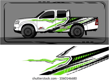 modern truck graphic. Abstract graphics design for Truck and vehicle vinyl wrap. Vector no gradients