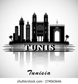 Modern Tunis City Skyline Design