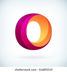 Modern twisted letter o icon design element template