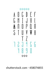 Modern typeface. Bold font.