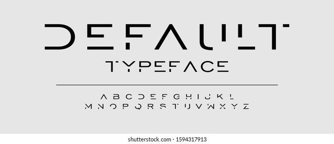 Modern typeface design. Abstract alphabet font set. Vector illustration for text. - Shutterstock ID 1594317913