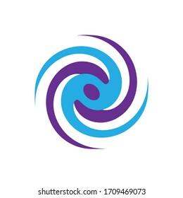 Modern typhoon logo icon vector illustration Eps10.