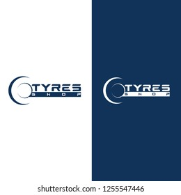 Modern Tyre Shop Logo Design - Tyre Business Branding, tyre logo shop icons, tire icons, car tire simple icons