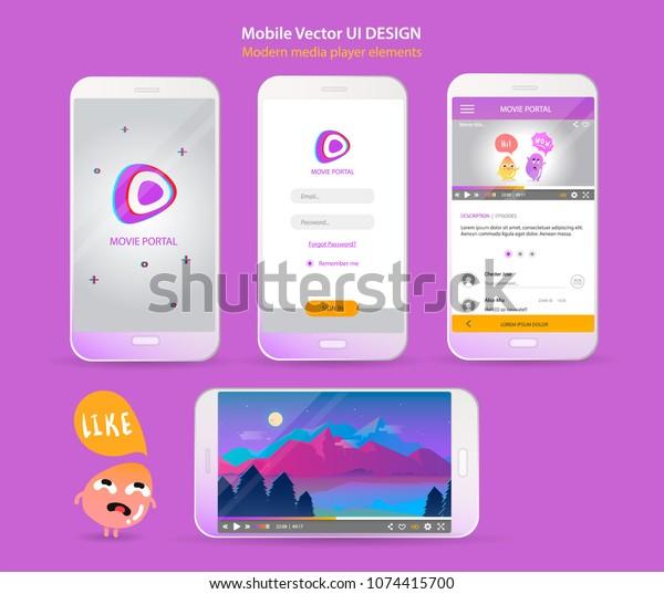Modern Ui Vector Design Mobile App Stock Vector (Royalty Free