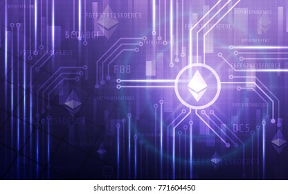 Modern Ultra Hd Crypto Currency Ethereum Stock Vector Royalty Free