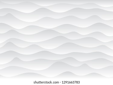 Modern undulant form of sandy cover ocean coast shape in plain air wind soft shadow art style. Light color artistic smooth emboss build design. Solid stone sea beach hill stripe line volume fade decor