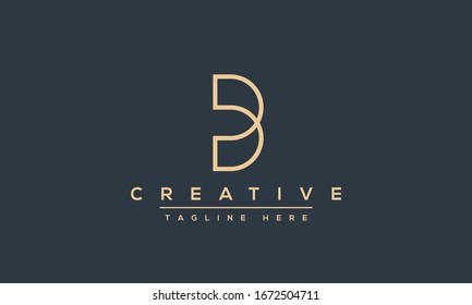 Modern unique creative B logo design, Minimal B initial based vector icon.