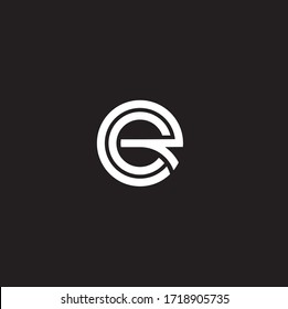Modern unique creative minimal fashion brands black and white color RC CR R C initial based letter icon logo.