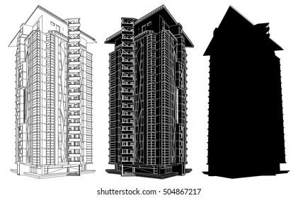 Modern Urban Buildings 338