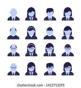 Modern user profile or costumer care vector icons set