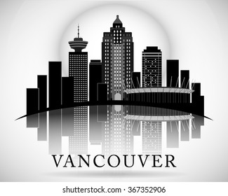 Modern Vancouver City Skyline Design. Canada