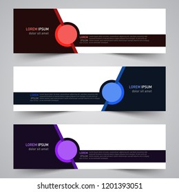 Modern vector abstract geometric design banner template for your promotion