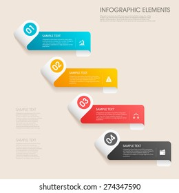 modern vector abstract step lable infographic elements.can be used for workflow layout, diagram, number options, web design.  illustration ,EPS10