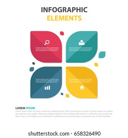 Modern vector abstract step lable infographic elements.can be used for workflow layout, diagram, number options, icons for 4 options, web design. illustration ,EPS10