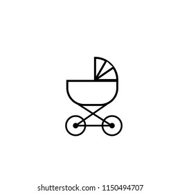 Modern vector baby whell icon
