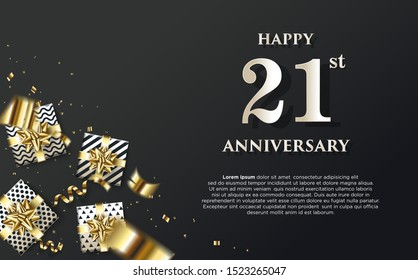 Modern vector background, with the word happy 54th anniversary. elegant and luxurious design, with vectors easy to edit as needed.