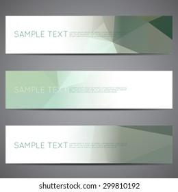 Modern vector banners polygonal background set