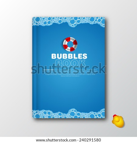 Modern vector book cover template kids stock vector royalty free modern vector book cover template for kids bath memories childhood story maxwellsz