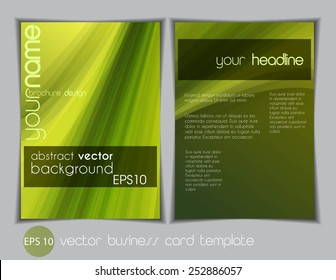 Modern vector business flyer template, smooth waves background for your design