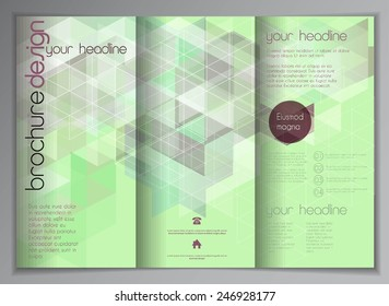 Modern vector business flyer/brochure template, geometrical background for your design
