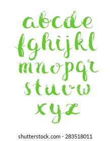 Modern vector english alphabet. Hand drawn letters.