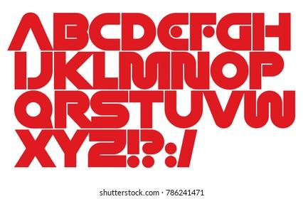 Modern vector font. Geometric type for logo or cover design. Logo branding template