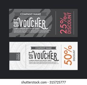 modern vector gift voucher template.
