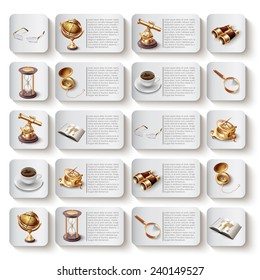 Modern vector icons collection. Isolated on white background