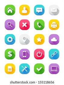 Modern Vector Icons Set for Web and Mobile