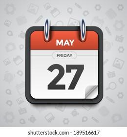 Modern vector illustration of beautiful calendar icon