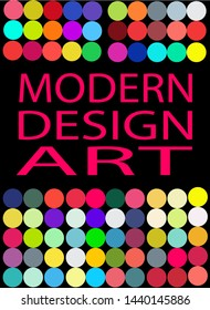 Modern vector illustration, bright colours, abstract and geometric shapes, as well as three-dimensional elements. This template can be used in the design of packages, book covers and music albums.