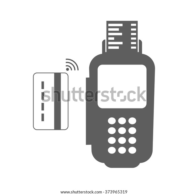 Modern Vector Illustration Nfc Payment Credit Stock Vector