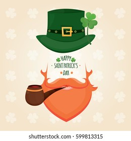 Modern vector illustration of Saint Patrick's Day. Saint Patrick's Day invitation.