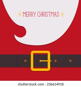 Modern vector illustration of Santa Claus. Christmas card poster banner. Xmas greeting template design with Merry Christmas.