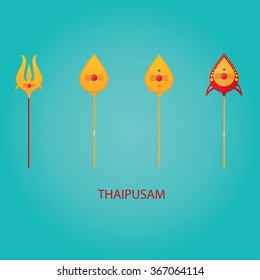 Modern vector illustration of spear symbol holiday Thaipusam