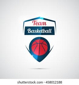 Modern vector logo for a basketball team