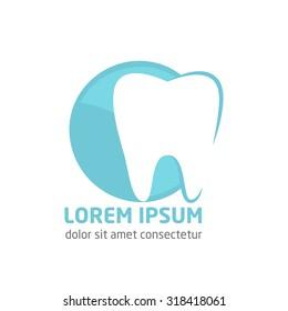 Modern vector logo for dentistry. Logo for dental clinic.Healthy teeth logo