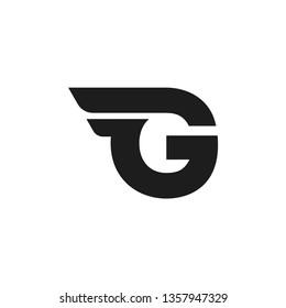 Modern Vector Logo Letter G. G Letter Design Vector Double Wing