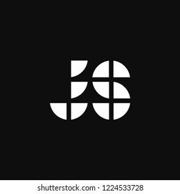 Modern Vector Logo Letter JS. JS Letter Design Vector