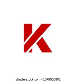 Modern Vector Logo Letter K. K Letter Design Vector
