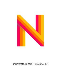 Modern Vector Logo Letter N. N Letter Design Vector