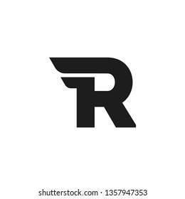 Modern Vector Logo Letter R. R Letter Design Vector Double Wing