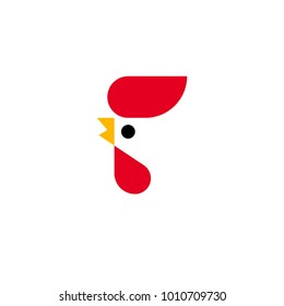 Modern vector logo template or icon of chicken head