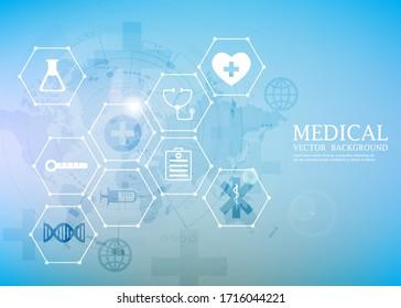 modern vector medical concept.technology medical wallpaper.