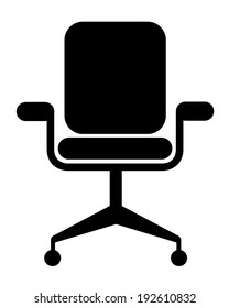 Modern vector office chair graphic