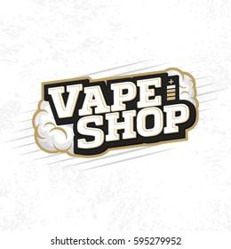 Modern vector professional logo emblem vape shop