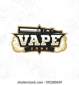 Modern vector professional logo emblem vape zone