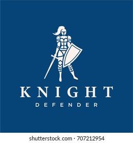 Modern vector professional logo emblem knight