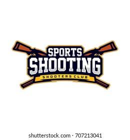 Modern vector professional logo emblem shooting sport