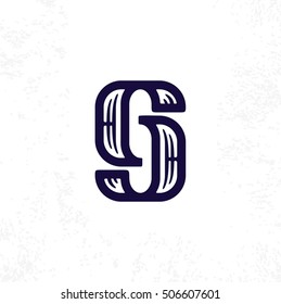 Modern vector professional sign logo gj